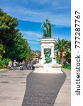 Small photo of NICE, FRANCE- APRIL 13: Statue To Marshal Andre Massena in the park of Nice on April 13, 2016 in Nice, France. Nice is a city located on the French Riviera
