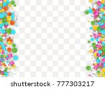 colored carnaval confetti...   Shutterstock .eps vector #777303217