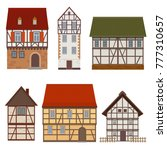 set of traditional facades of a ... | Shutterstock .eps vector #777310657