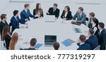 business conference. business... | Shutterstock . vector #777319297