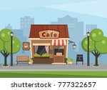 building a cafe in the... | Shutterstock .eps vector #777322657