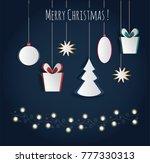 vector white paper christmas... | Shutterstock .eps vector #777330313
