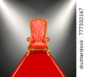 vector luxurious gilded throne... | Shutterstock .eps vector #777332167