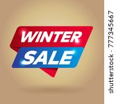 winter sale arrow tag sign. | Shutterstock .eps vector #777345667