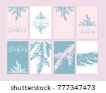 set of abstract hand drawn... | Shutterstock .eps vector #777347473
