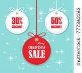 christmas balls sale. special... | Shutterstock .eps vector #777362263