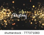 christmas background with... | Shutterstock . vector #777371083