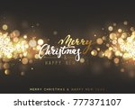 christmas background with... | Shutterstock . vector #777371107
