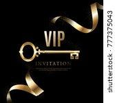 luxury vip invitation | Shutterstock .eps vector #777375043