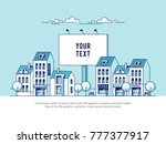a big city billboard for... | Shutterstock .eps vector #777377917