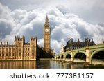 scene of big ben and palace of ... | Shutterstock . vector #777381157