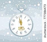 hand drawn pocket watch on...   Shutterstock .eps vector #777386473