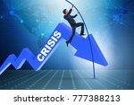 businessman pole vaulting over... | Shutterstock . vector #777388213
