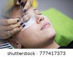 eyelash extension procedure in...   Shutterstock . vector #777417373