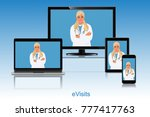 evisit  doctor appointment ... | Shutterstock .eps vector #777417763