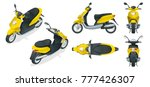 trendy electric scooter ... | Shutterstock .eps vector #777426307