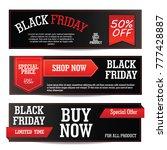 web banner black friday template | Shutterstock .eps vector #777428887
