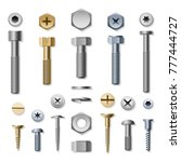 Bolts And Screws. Vector Screw...