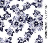 abstract elegance seamless... | Shutterstock . vector #777444787
