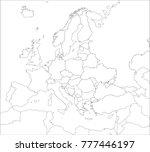 map of europe  | Shutterstock .eps vector #777446197