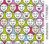 smiling crowd. seamless pattern ... | Shutterstock .eps vector #777454867