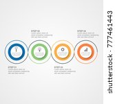 circle business infographic... | Shutterstock .eps vector #777461443