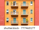 bright colorful facade of old... | Shutterstock . vector #777463177
