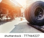 trie truck for repair | Shutterstock . vector #777464227
