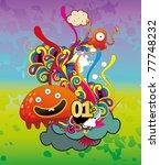monster vector illustration | Shutterstock .eps vector #77748232