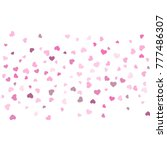 heart confetti beautifully... | Shutterstock .eps vector #777486307