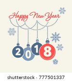happy new year concept. simple... | Shutterstock .eps vector #777501337