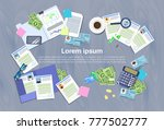 hr manager workplace concept... | Shutterstock .eps vector #777502777