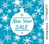 new year sale. special offer... | Shutterstock .eps vector #777503977
