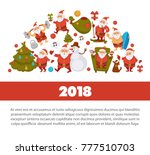 happy new year 2018 poster with ... | Shutterstock .eps vector #777510703