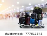 luggage in the airport | Shutterstock . vector #777511843