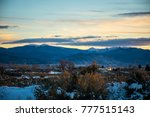 Small photo of Taos New Mexico the land of Enchantment and home to the Southern Sangre De Cristo Mountains of the desert Southwest