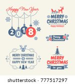 merry christmas and happy new... | Shutterstock .eps vector #777517297