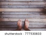 looking down on feet and a...   Shutterstock . vector #777530833