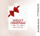 christmas card with snow flakes ... | Shutterstock .eps vector #777534193