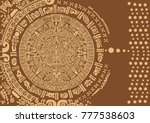 abstract design with an ancient ... | Shutterstock .eps vector #777538603