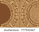 abstract design with an ancient