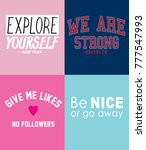 typography slogan for t shirt... | Shutterstock .eps vector #777547993