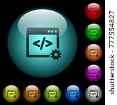 web development icons in color... | Shutterstock .eps vector #777554827