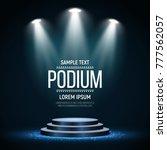 round podium on bright... | Shutterstock .eps vector #777562057