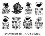 vector handwritten coffee... | Shutterstock .eps vector #777564283