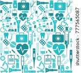 medicine seamless pattern....   Shutterstock .eps vector #777565087