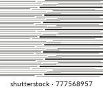 black monochrome lines striped... | Shutterstock .eps vector #777568957