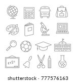 school and education line icons ... | Shutterstock .eps vector #777576163