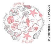 vector hand drawn round... | Shutterstock .eps vector #777593203