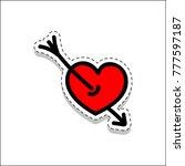 arrow  cupid  heart  love ... | Shutterstock .eps vector #777597187